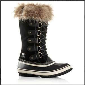 Joan of Arctic Waterproof Suede Faux Fur Boots